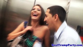 Real cumswallower amateur in orgy