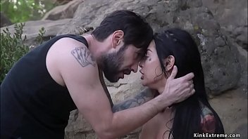 Bf torments brunette gf outdoors