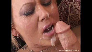 Nasty Blonde MILF Amateur Handjob