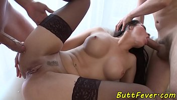 Euro babe assfucked in stockings