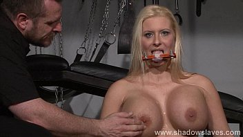 Busty german slave Melanie Moons tounge tied tit t&period