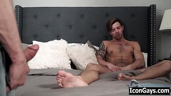 Big step dad blackmails gay son to fuck him - gay father and son blowjob