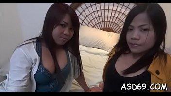 Tough sex play for  thai angel
