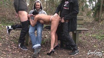 The whore from Baneasa approached and fucked by three men
