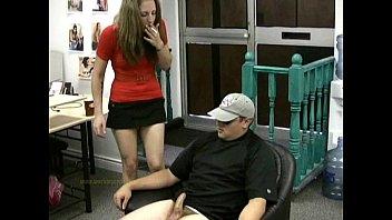 xxarxx Secretary gives man a handjob as he waits for the boss