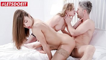 LETSDOEIT - Big Cock Lutro Got Serviced By Two Sexy Babes - Alyssa Reece & Alexa Flexy
