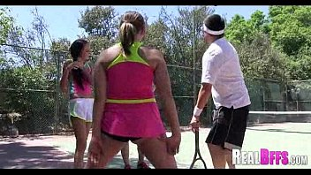 College girls tennis match turns to orgy 034