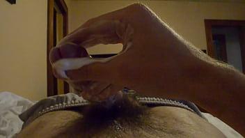 Jerking my CREAMY dick until it CUMS on my camera!