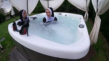 Two Naughty Nun s Get Wet In The Hot Tub e Hot Tub