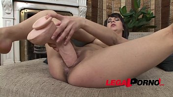 Horny college girl Felicia gets wicked with some extra large dildos