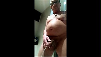 Stripping Naked and having a pee