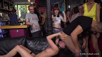 Euro Slut Gangb ang Fucked In Public Bar ublic Bar