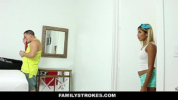 FamilyStrokes - Hot Step-Sis Can't Resist Fucking Bro  #20189