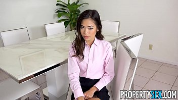 PropertySex - Hot petite Asian real estate agent fucks her boss thumbnail