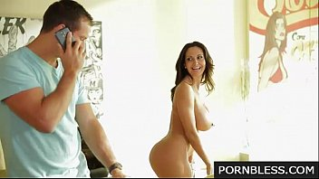 Ava Addams pure mature with two men