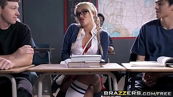 2 teasing little French schoolgirls taste teachers hard cock in ass + mouth