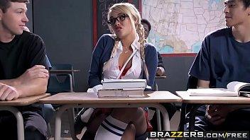 2 teasing little French schoolgirls taste teachers hard cock in ass + mouth