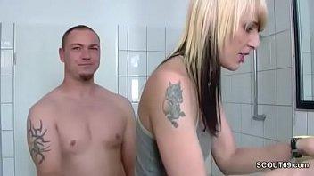 German Brother Seduce Step-Sister To Fuck Him In Bathroom