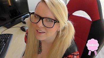 thumb Cute Blond Girl Gets Fucked In School Uniform Big Cumshot On Her Glasses