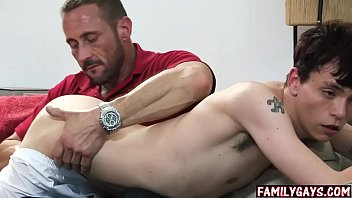 Real father(父) and son gay sex - gay family taboo