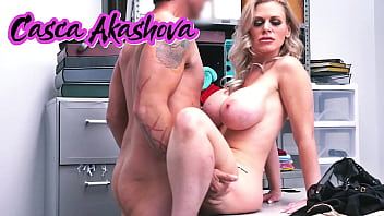 Blonde Casca Akashova Have To Fuck Shop Owner After Caught Stealing