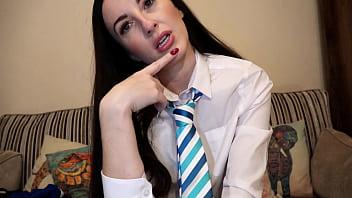 College uniform/sophia smith/school tie uniform wanker