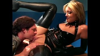 xxarxx Uniformed babe sex in gloves and latex lingerie