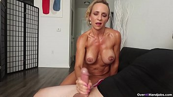 The old woman fucks hard with a big cock as she likes