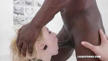 Helena Valentine 3 on 1 Interracial Creampie
