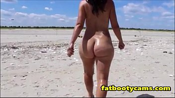 ass Nude beach milf