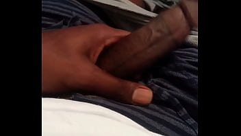 Playing with my semi soft bbc