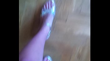 Russian girl shows her sexy sandals