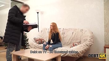 Debt4k. Sexy redhead Rose Wild pays for new TV with her wet holes thumbnail