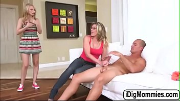 Blondes Lily and Cory fucked by big cock