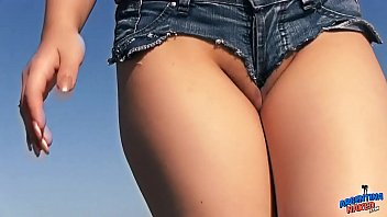 Teen exposing ass tits and pussy beach...