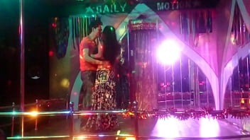 Nepal Desi Bar girl dance of the floor with a handsome boy