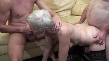 Old woman makes a threesome with her nephew...