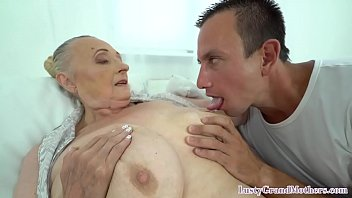 Saggy tittied granny fucking younger dick