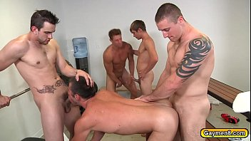 Group gay sex video