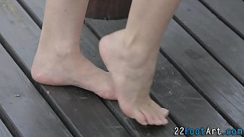 Kinky Blonde Foot Tugging