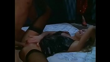 Sexy blonde sucks cock then gets her asshole drilled while asian babe licks her tits