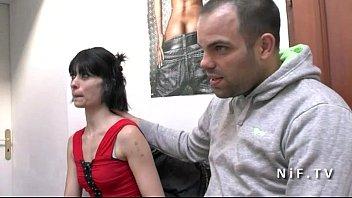 thumb Horny French Amateur Slut Sodomized In Threeway