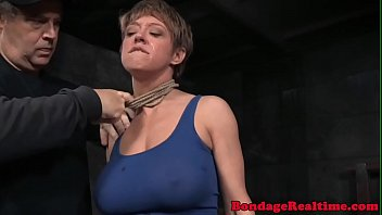Breastbonded sub stimulated with vibrator