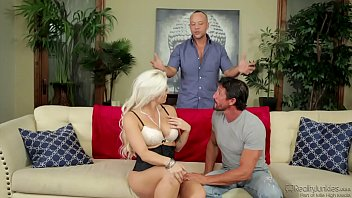 Blonde doing DP with two gifted