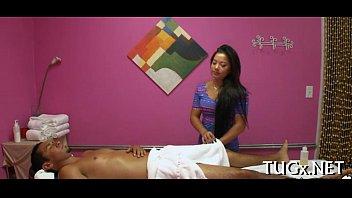 Boy enjoys sex and massage