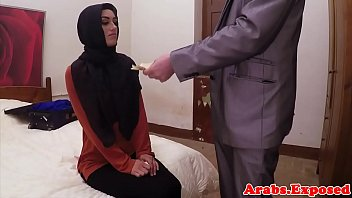 Exotic arab babe riding a huge cock