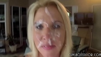 Hot milfs covered in cum