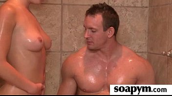 Soapy Massage End With a Big Cumshot 1