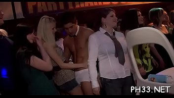Trickling pussy on the dance floor fucking and slots face and throat