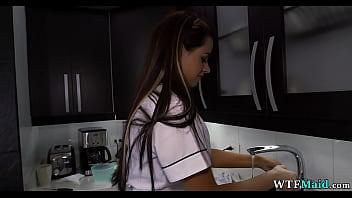 Gorgeous maid in my kitchen thumbnail